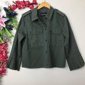 Who What Wear army green button up utility jacket